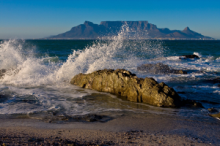 View of Table Mountain from Tableview in Cape Town