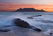 Cape Towns Table Mountain from Blouberg Beach